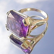 Silver/9kt Gold Artisan Regal Amethyst Ladies Ring