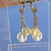 Sterling/Vermeil Briolette Citrine Earrings