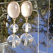 14kt Crystal Beads Dangle Earrings
