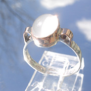 Sterling/9kt Pink Gold Moonstone Ladies RIng