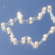 Sterling Round Multi Freshwater Pearl Necklace
