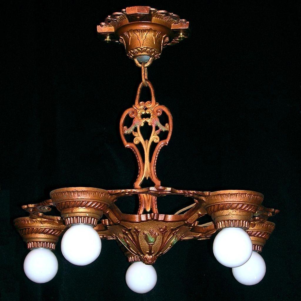 markel vintage 5 light bare bulb iron chandelier hanging. Black Bedroom Furniture Sets. Home Design Ideas