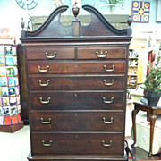 SALE Gorgeous Antique Mahogany Queen Anne Style Highboy circa 1880