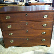 SALE Gorgeous Antique American Cherry Hepplewhite 4 Drawer Chest circa Early 19th Century