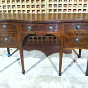 SALE Beautiful 18th Century Period Hepplewhite Mahogany Serpentine Front Sideboard
