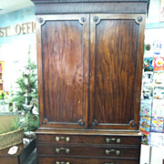 SALE Gorgeous Antique Sheraton Linen Press with Butlers Desk (Secretary) circa Early 19th ...