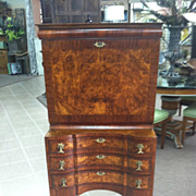 SALE Gorgeous Antique Burled Walnut Drop Front Secretary Desk circa 1880