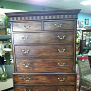 SALE Gorgeous Antique Mahogany Chippendale Chest on Chest circa 1780