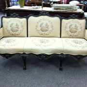SALE Gorgeous Antique French Three Panel Back Sofa circa 19th Century\