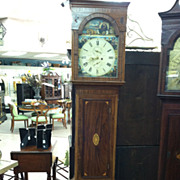 SALE Gorgeous Antique Inlaid Mahogany Hepplewhite Grandfather Clock circa 1840 (Duff)