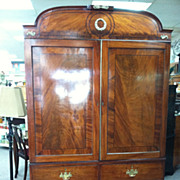 SALE Gorgeous Antique English Regency Mahogany Linen Press circa 1810