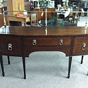 SALE Gorgeous Antique Mahogany Hepplewhite Bow Front Sideboard Circa 19th Century