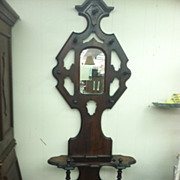 SALE Gorgeous Antique Walnut Hall Tree (Umbrella Stand) circa 1880