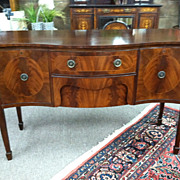 SALE Gorgeous Edwardian Hepplewhite Style String Inlay Mahogany Sideboard Credenza circa Early