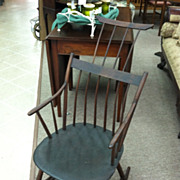 SOLD Gorgeous Antique American Windsor Comb Back Rocking Chair circa 19th Century