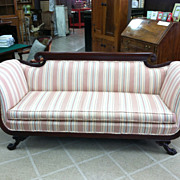 SALE Gorgeous Antique Duncan Phyfe Style Sofa (Nicely Carved) circa Early 20th Century