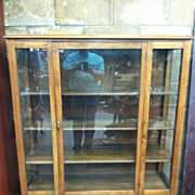 SALE Gorgeous Antique Oak China Cabinet circa 1920