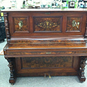 SALE Gorgeous Antique Victorian Upright Piano (Alfred Huttner Breslau) circa 19th Century