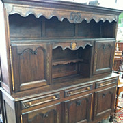SALE Gorgeous French Provincial Vassalier (China Hutch) Carved/Inlaid circa 1890
