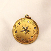 Beautiful Art Nouveau Gold Filled Locket