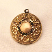 Wonderful art Nouveau Gold Filled Star Flower Locket