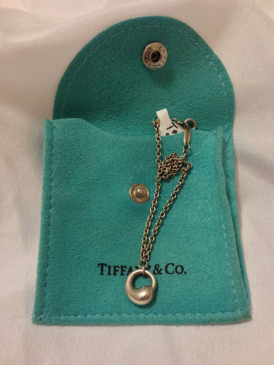 Vintage Tiffany & Co Elsa Peretti Sterling Eternal Circle Charm Bracelet