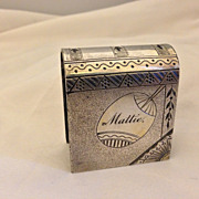 Unique Victorian Silver Plated Book Shaped Figural Napkin Ring