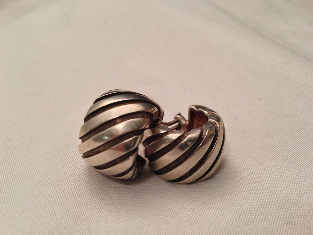 Tiffany & Co Sterling Silver 1995 Atlas Earrings