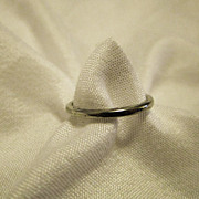 Vintage 18k White Gold Belais Brothers Art Deco Wedding Band Sz 6.25