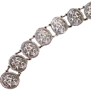 Sterling St. George Medallion Style Bracelet, Solid Silver Vintage Beauty, Patron Saint of UK