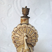 SOLD German Schafer & Vater Figural Porcelain Crown Top Perfume Scent Bottle