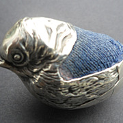 Antique Novelty Solid Silver Sampson Mordan Figural Chick Pin Cushion