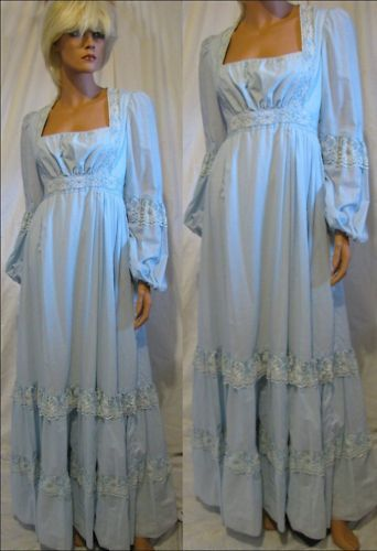 Vintage Gunne Sax Dress Victorian Corset Dress Hippie Wedding Dress Gown