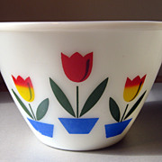 Fire King Tulip Large Mixing Bowl