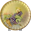 Four Vintage 1950's Dinner Plates, Gorgeously Handpainted, Each Different
