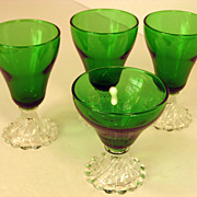 Anchor Hocking Inspiration Bubble or Burple Forest Green Cocktail Glasses