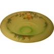 Vintage Reverse Painted Waterfall Center Bowl, Green with Morning Glories