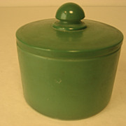 SALE 1930's Pinaud Green Glass Jar