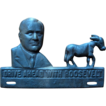 1932 FDR Cast Iron License Plate Topper