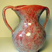 SALE Seagrove Potter Waymon Cole, 1930's Two Handled Vase in Mottled Glaze