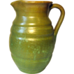 North State Pottery Pitcher, in Green, 3rd stamp, late 1930's-1959