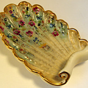SALE Abingdon Pottery Floral Console Shell Dish