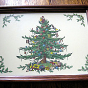 SALE SPODE Christmas Tree Serving Tray