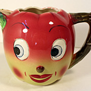 Vintage Smiling Apple Juice Pitcher