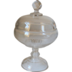 Early Pressed Clear Glass Preserve Compote