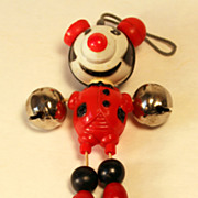 Vintage Pie Eyed Mickey Mouse Celluloid Crib Toy