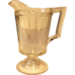Early Pressed Clear Glass Pedestal Creamer with Rope Design
