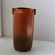 Early Roseville Mark R, possibly Futura, Matte Brown to Green Vase