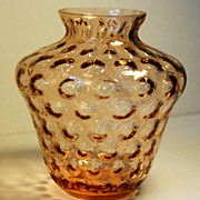 Beautiful Vintage Pink Large Hobnail Glass Vase