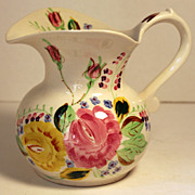 Southern Potteries Blue Ridge Sally Pitcher in Grand Mother's Garden Pattern